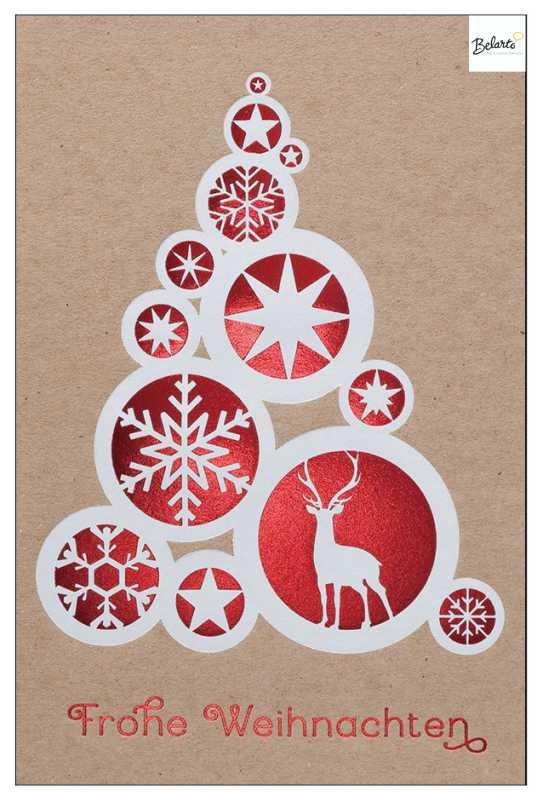 Weihnachtskarten werbeagentur loof for Weihnachtskarten mit firmenlogo