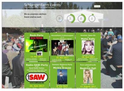 Schlangenfarm-Events