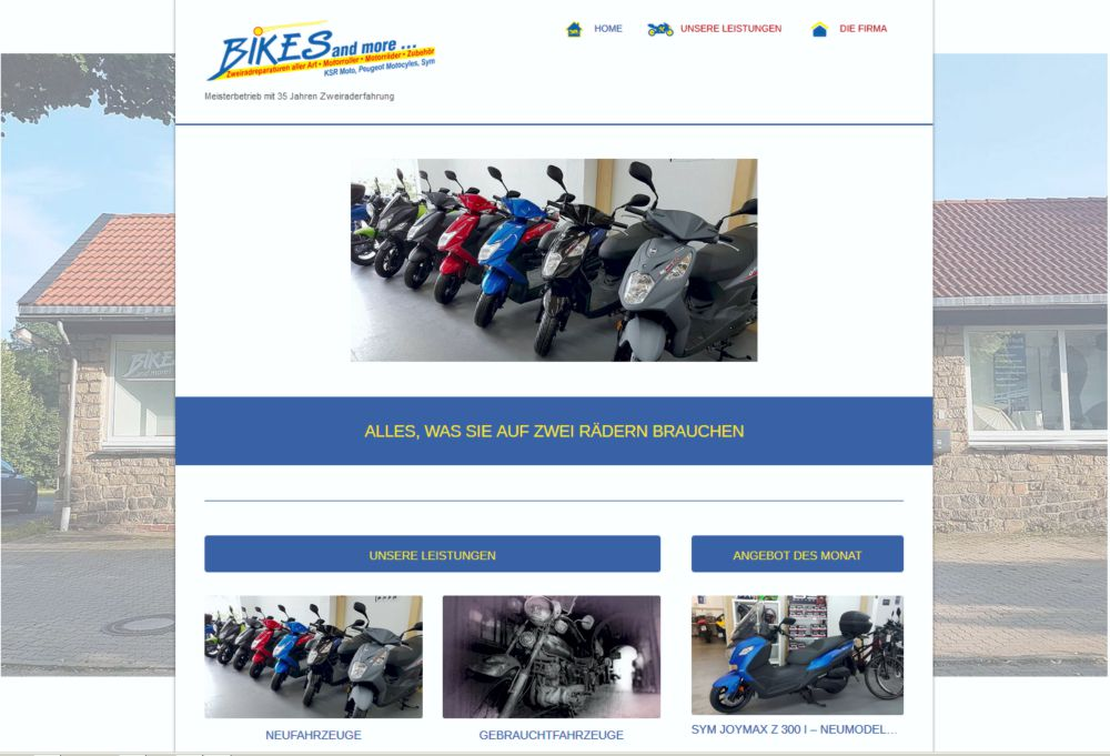 Bikes and more Website
