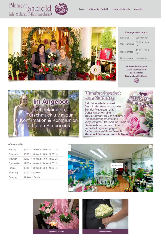 Blumen Landfeld Website